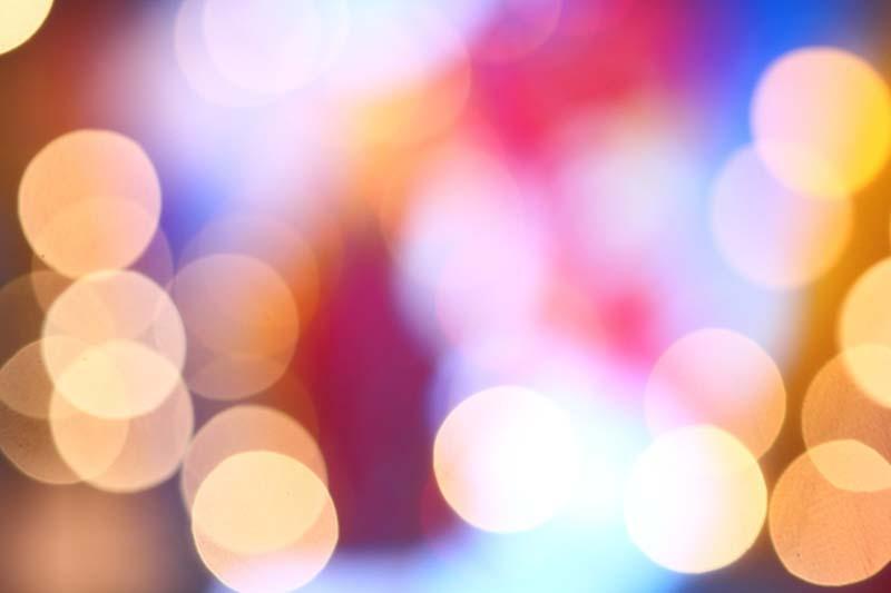 fotografia effetto bokeh luci