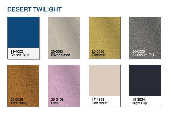 Pantone 2020 classic blue desert twilight