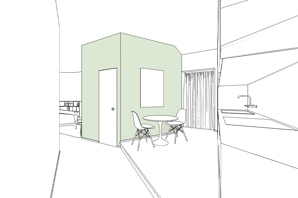 Immagine 3d ristrutturazione casa